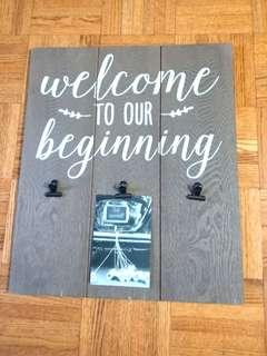 BRAND NEW! Wedding Welcome Display Board