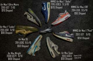 AIR MAX's! 8 Available! See Pic for Details!