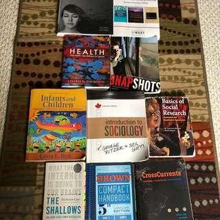 Waterloo University Textbooks Assorted