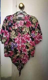 Floral Cropped Polo