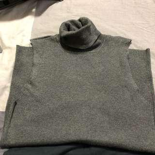 Grey TurtleNeck Sleeveless Top
