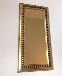 small vertical Grecian mirror - 23.5 x 12 inches
