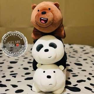 16' Stackable We Bare Bears plushies
