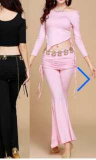 Belly dance set - pink (WITHOUT belt)