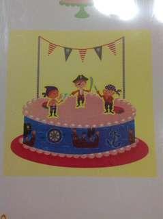Pirate Cake Topper Kit
