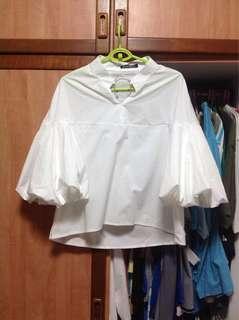 White Bell Sleeved Top