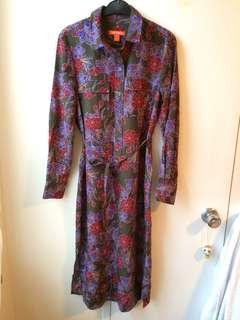 Joe Fresh long dress w/ slit sz-XS