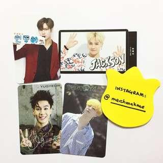 GOT7 Official Photo Cards JACKSON YUGYEOM