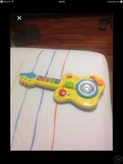Battery Operted Yellow Guitar
