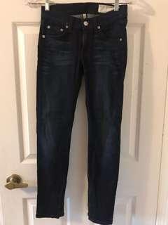 Rag & bone zipper ankle jeans size24
