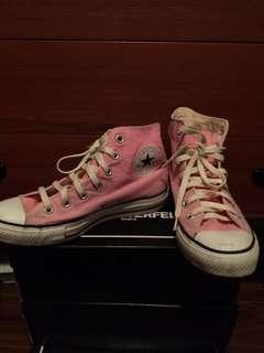 Converse All Star Hi-Top Baby Pink sz-7.5 women's