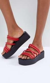 🚚 北歐品牌Vagabond 日式撞色厚底涼鞋
