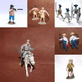 Human Figurines: Ancient Soldier/ Farmer/Photography /Miniature Figures of Human