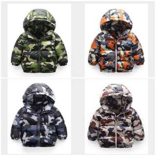 Military camouflage prints warm padded winter jacket