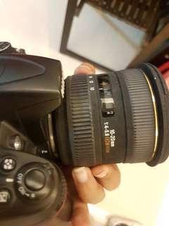 Sigma 10 20 ultrawide angle lens for nikon