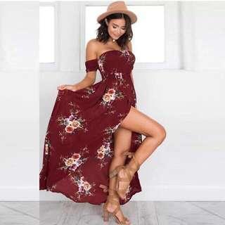 Floral Long Dress 👗