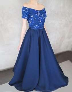 Blue gown for rent