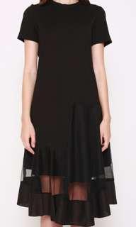 Tracyeinny Cuba Mesh Black Midi Dress BNWT