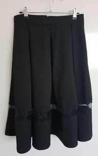 Luvalot Black Skirt Size 10