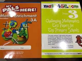 P3 challenging Maths book, px between $3 to $4