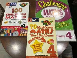 P4 challenging maths for sale, each $3/-