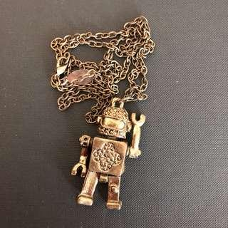 Statement Necklace - Robot