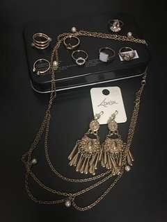 🚚 Lovisa earrings,Rings,headband