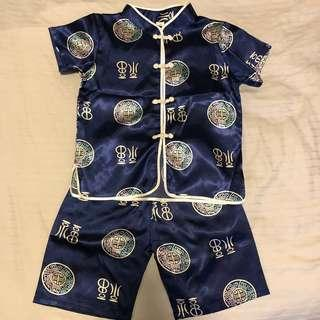 🚚 Traditional Chinese Silk Costume for Boys