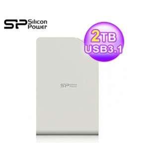 行動硬碟 SP 廣穎 Stream S03 2TB USB3.0 外接硬碟 3年保 白色 雙北面交