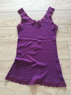 Uniqlo Sleeveless Purple Camisole