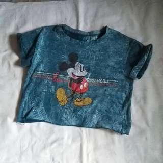 Mickey Mouse Cropped Top