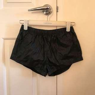 Leather Shorts Black