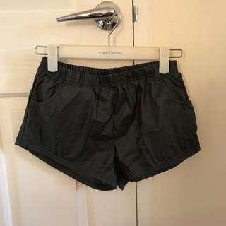 Leather Shorts Dark Grey