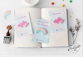 🚚 Clouds and rainbow post it notes / memo