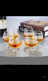 玻璃矮腳洋酒杯 60ml 6隻