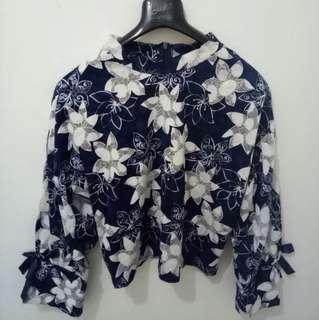 Blue Flower Top