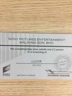 Venom Movie Tickets