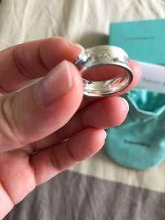 Authentic Tiffany and co band ring size 4.5