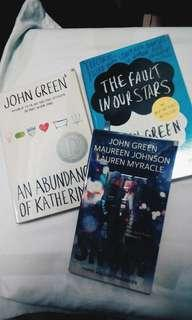 John Green's The Fault in Our Stars, An Abundance of Katherines & Let it Snow