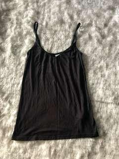 H&M black plain cami