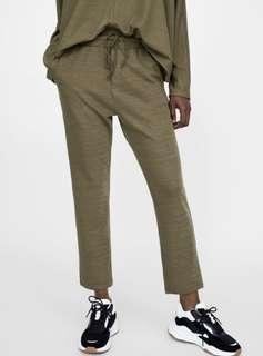 Zara Olive Drawstring Pants & Matching Top
