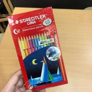 Staedtler Luna waterColor Pencils 12pics 水彩木顏色筆