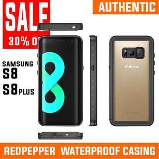 ALL MUST GO! SAMSUNG S8 S8PLUS WATERPROOF CASING REDPEPPER