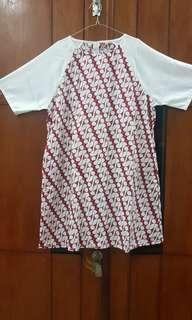 bigsize batik dress