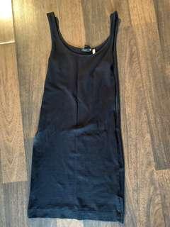 H&M basic black mini dress