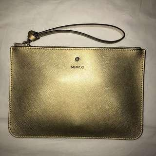 Gold mimco large pouch