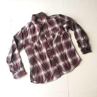 Uniqlo flannel shirt nirvana kurt cobain