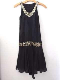 Body & Soul dress hitam dengan manik FREE ONGKIR