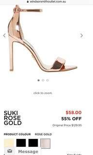 Windsor Smith rose gold heels