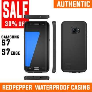 ALL MUST GO! SAMSUNG S7 S7 EDGE WATERPROOF CASING REDPEPPER